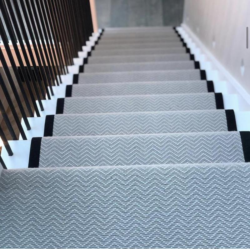 Image 3 - Alternative Flooring Iconic Chevron in Brooklyn with an Onix cotton border