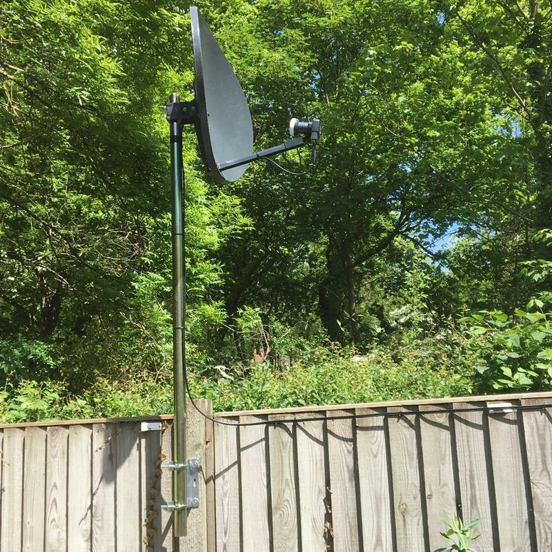 Image 21 - SKY DISH INSTALL IN GARDEN AS TREES WERE BLOCKING SIGNAL FROM HOUSE