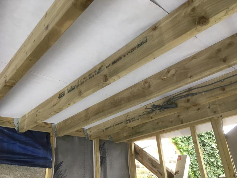 Image 14 - Internal view of Flat roof installed on garage conversion, built by myself