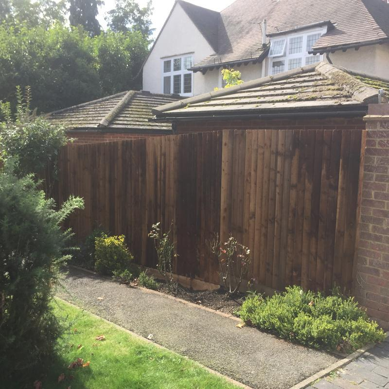 Image 1 - A small feather board fence we built for a customer in St Albans