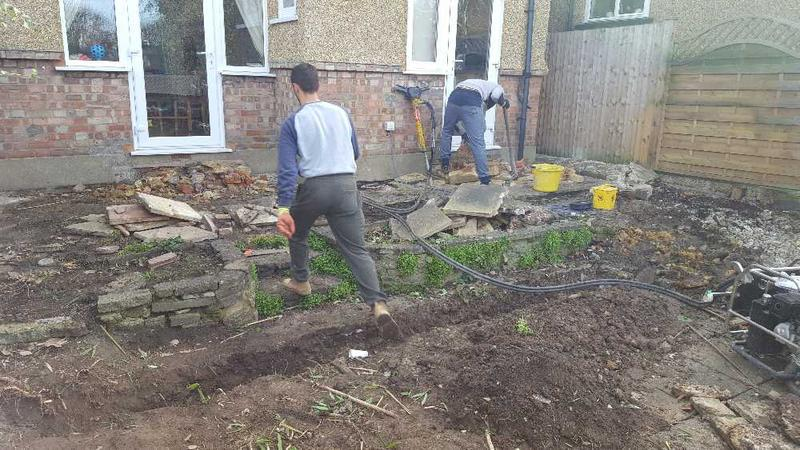 Image 12 - preparation for new patio and landscaping garden