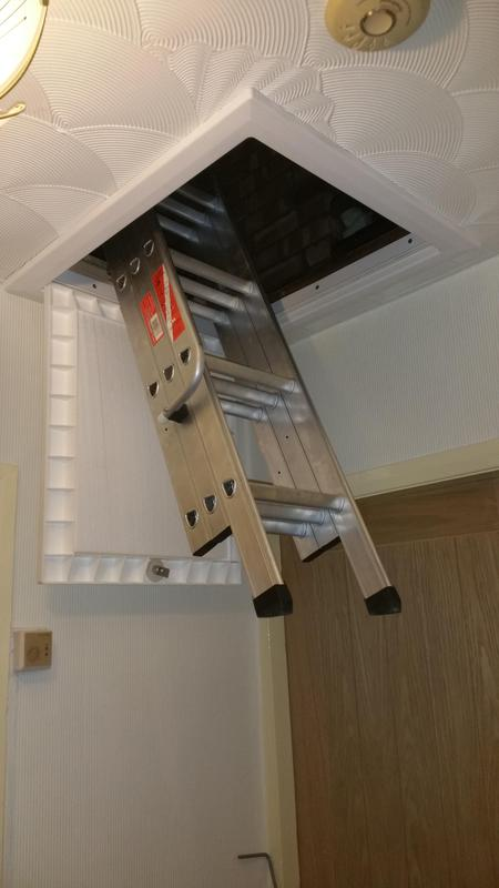 Image 63 - Loft hatch and ladders fitted