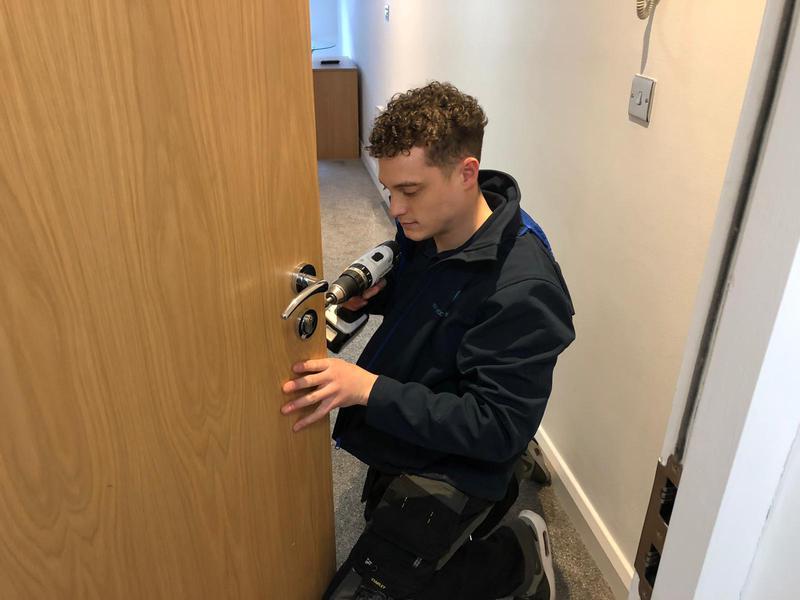 Image 19 - Lock change on apartment door