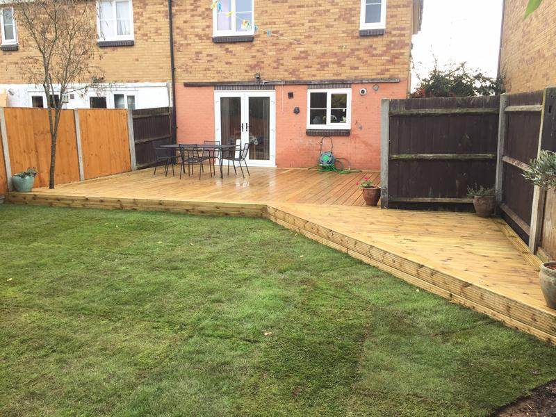 Image 23 - Angled deck, Turfing