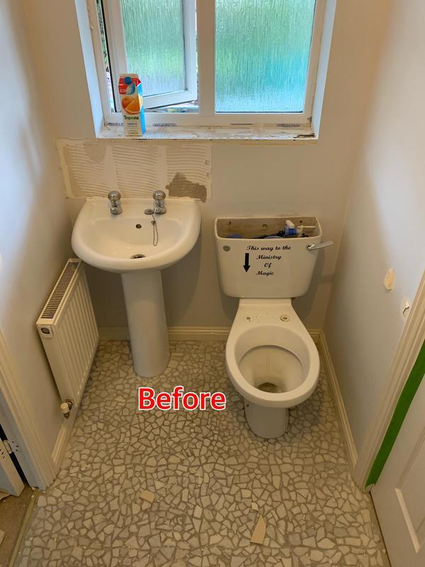 Image 35 - BEFORE. Crayford Bathroom refurbishment