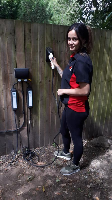 Image 1 - Electric car chargers installed in Ascot, July 2019.