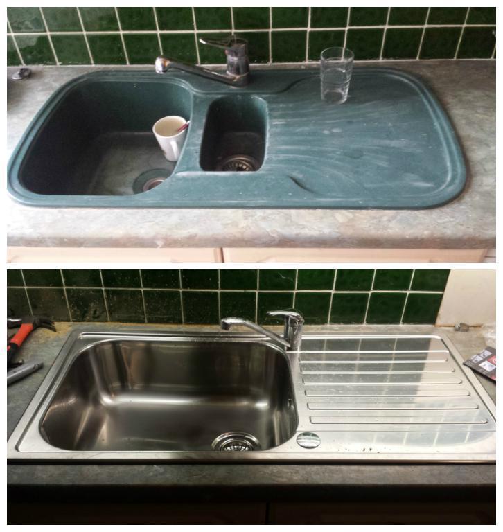 Image 19 - New kitchen sink installed.