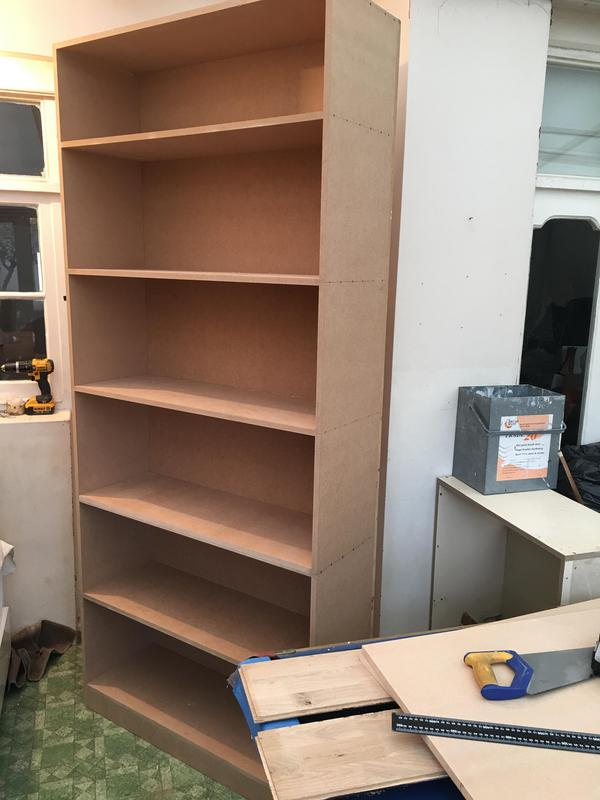 Image 61 - Full height MDF bookcasewith shelves and 2 doors fitted on the lower part