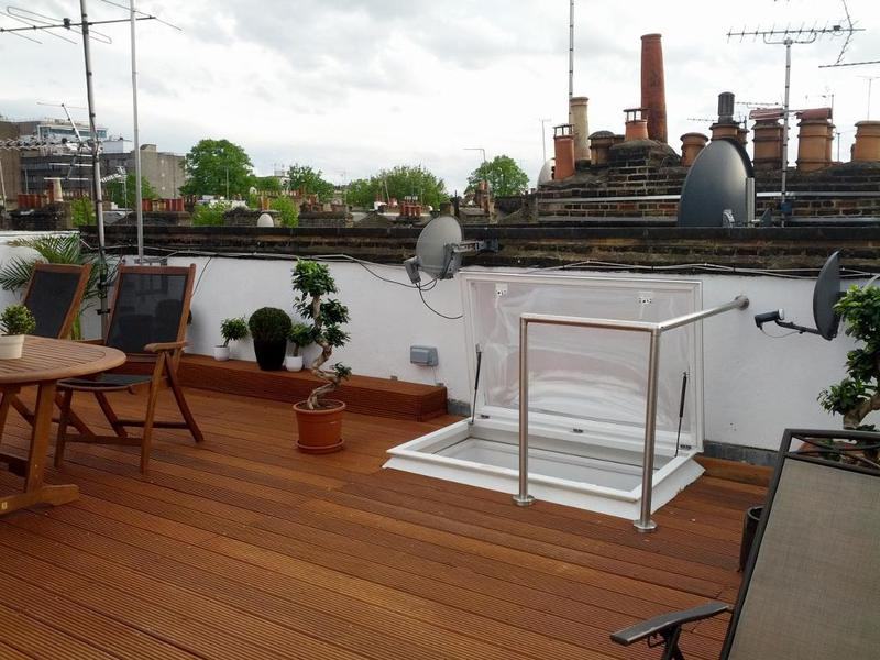 Image 8 - Fit access hatch and decking to rooftop