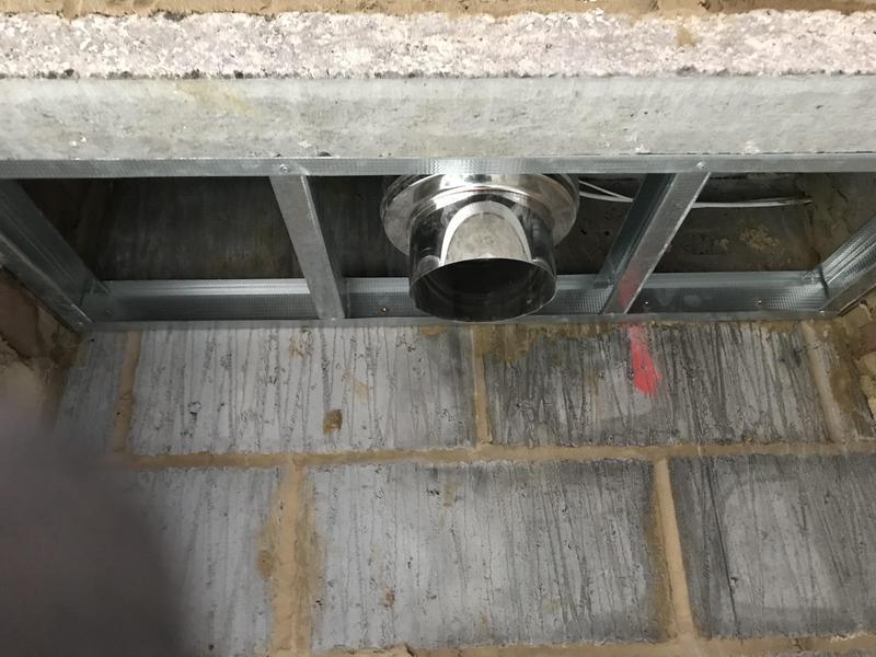 Image 37 - Inside chimney ceiling built for fireboard