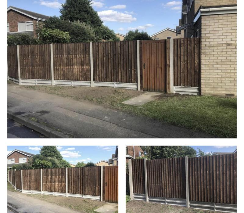 Image 31 - 15- New close board panel with concrete gravel boards and posts