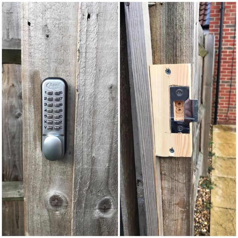 Image 8 - Code Lock Supplied & Fitted To A Garden Gate In Basildon