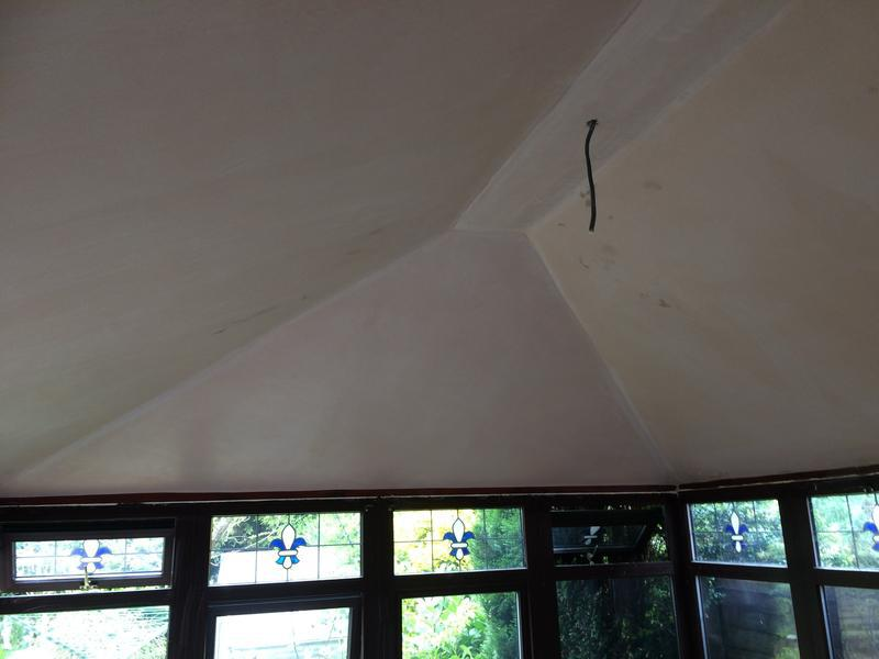 Image 31 - Conservatory, Insulation plasterboard and plaster