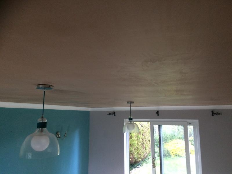 Image 33 - Artex lounge ceiling. PVA and plastered.