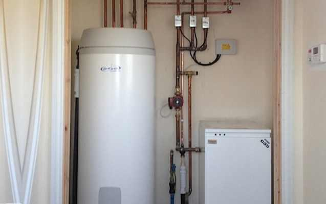 Image 36 - System boiler, central heating, wet underfloor heating and unvented indirect hot water cylinder installation