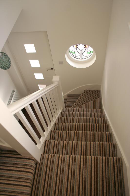 Image 20 - Cheltenham Stripe Duck Egg on stairs