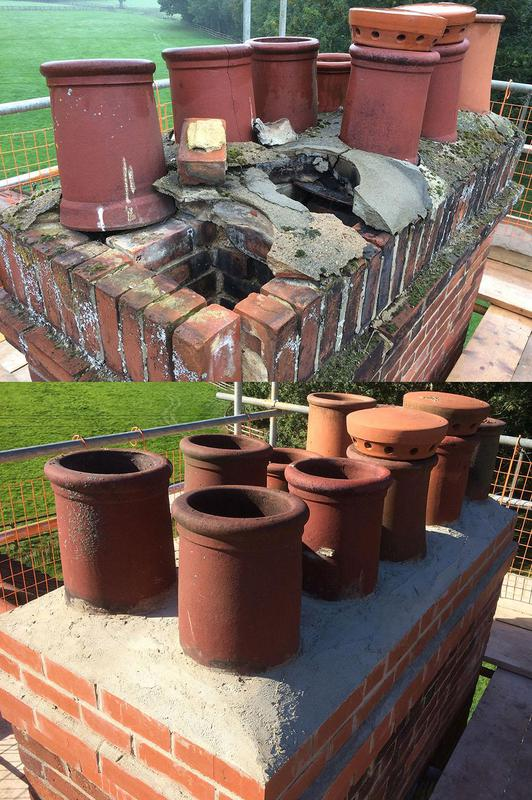 Image 3 - Chimney stack rebuild before and after