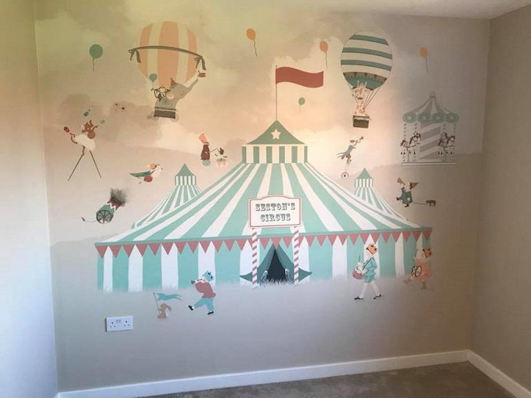 Image 48 - Mural hanging