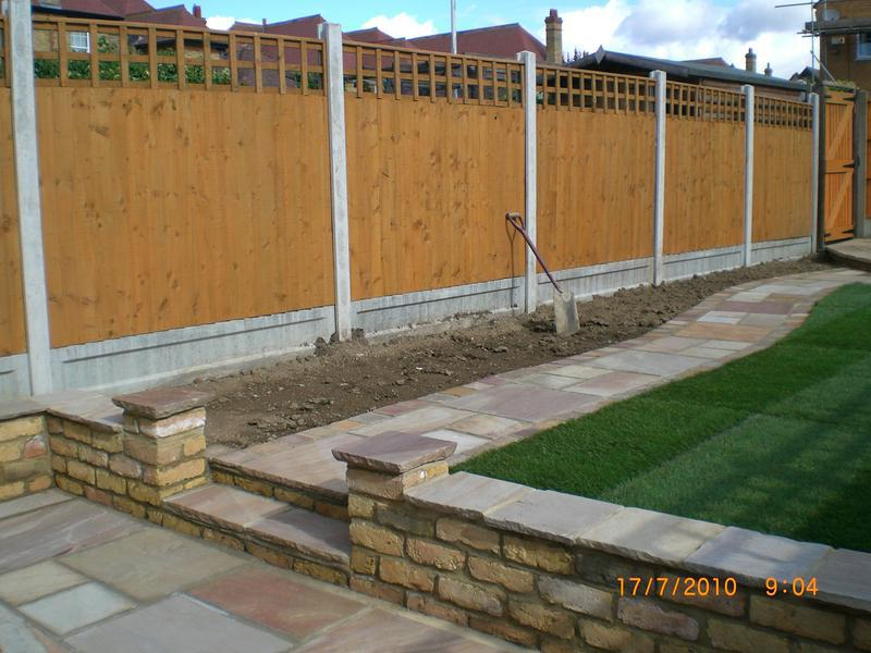 Image 2 - finnished new lawn,indian stone patio,path,new walls,fence