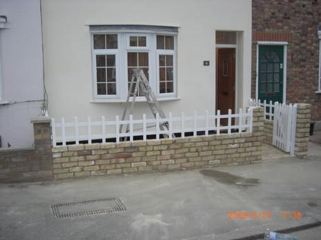 Image 73 - Exterior decoration, new wall, fencing and gate
