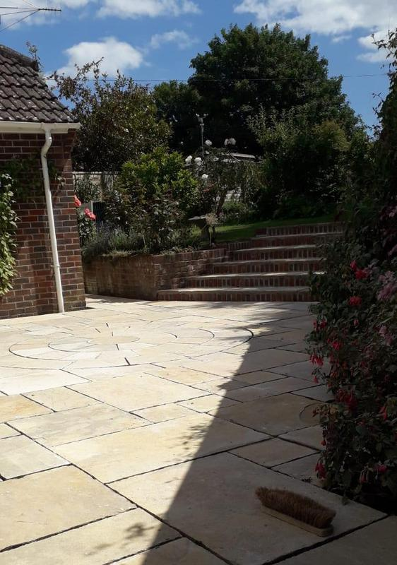Image 56 - Citreon limestone patio and new steps, Owermoigne