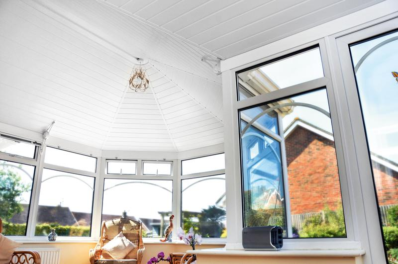 Image 5 - Unique Insulated Conservatory Ceiling with UPVC Finish - existing centre light remains.