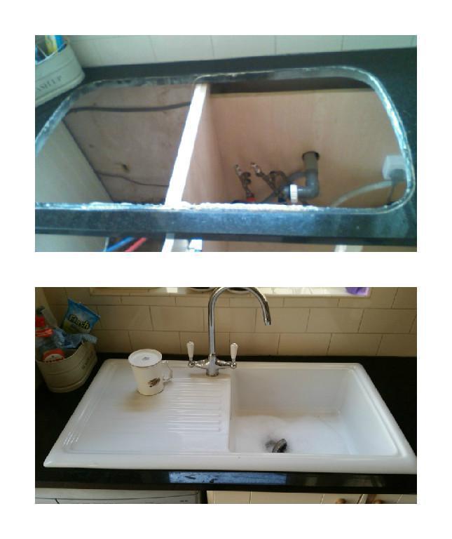 Image 18 - New kitchen sink installed.