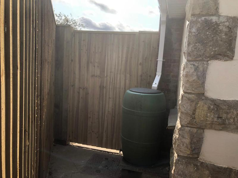 Image 21 - Closeboard fencing with matching gate in Dorchester