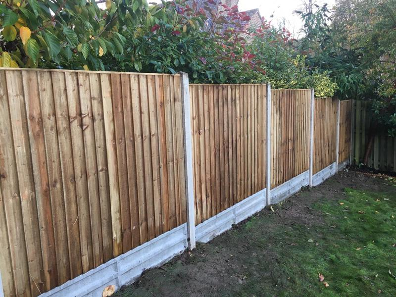 Image 130 - Closeboard fencing on concrete gravel boards and concrete posts