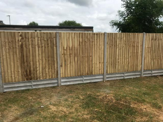 Image 88 - Closeboard panel fencing on concrete posts and concrete gravel boards, Yeovil