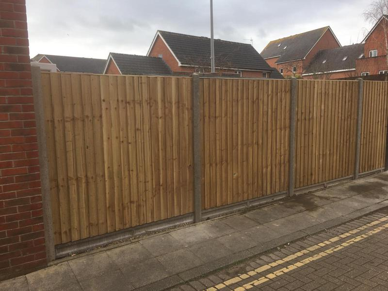 Image 215 - Closeboard fencing on concrete posts and concrete gravel boards, Poole