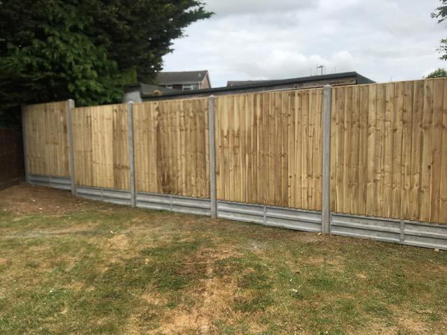 Image 89 - Closeboard panel fencing on concrete posts and concrete gravel boards, Yeovil