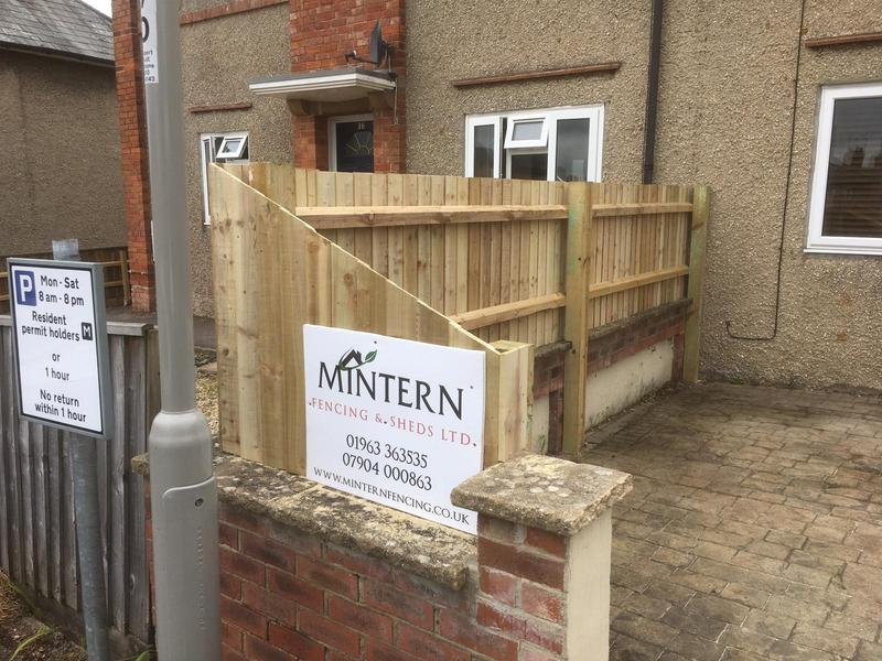 Image 138 - Closeboard screening to property in Yeovil