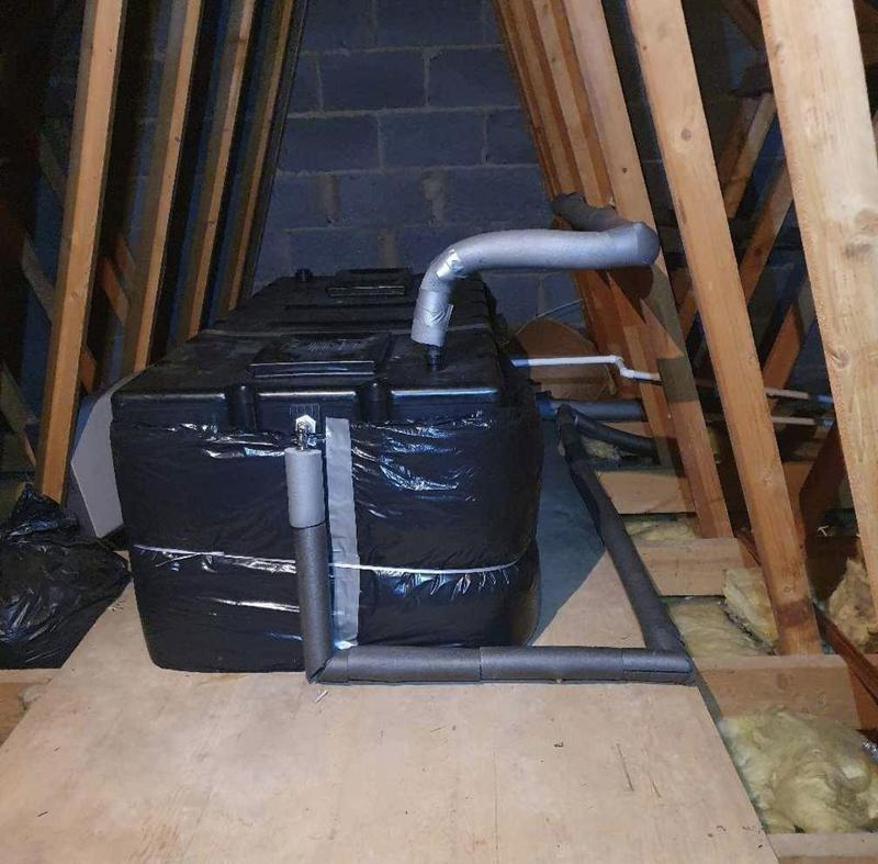 Image 7 - Cold water storage cistern upgraded in this property due to the householder running out of water whilst in the shower. August 2021