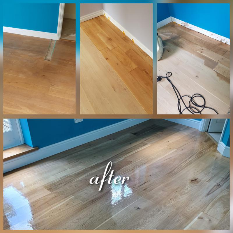Image 20 - Repaired sanded and lacquered flooring