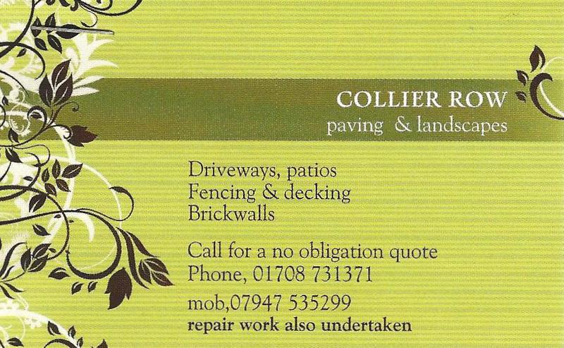 Collier Row Paving & Landscapes logo