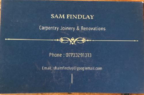 Sam Findlay Carpentry Joinery & Renovations logo