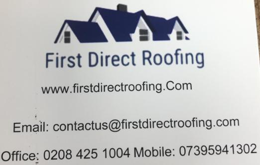 First Direct Roofing logo
