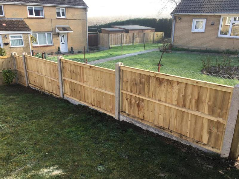 Image 141 - Closeboard fencing on concrete posts and concrete gravel boards