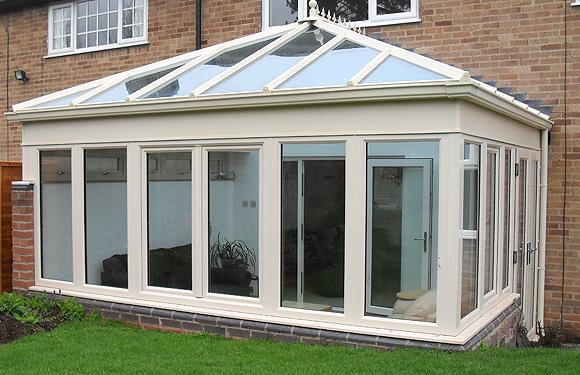 Image 66 - Cream UPVC Conservatory, Quorn, Leicestershire