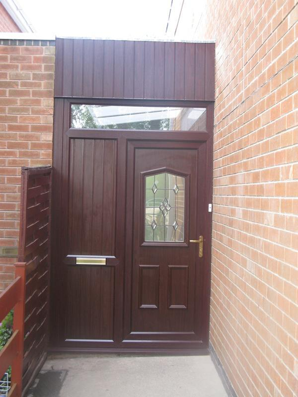 Image 42 - Porch infill in Rosewood Upvc installation in Long Whatton