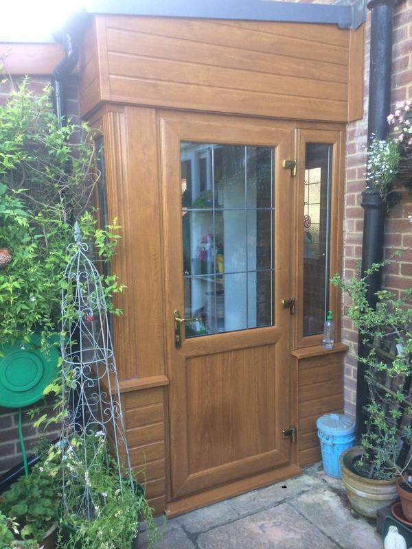 Image 115 - Corringham-Oak UPVC panel door