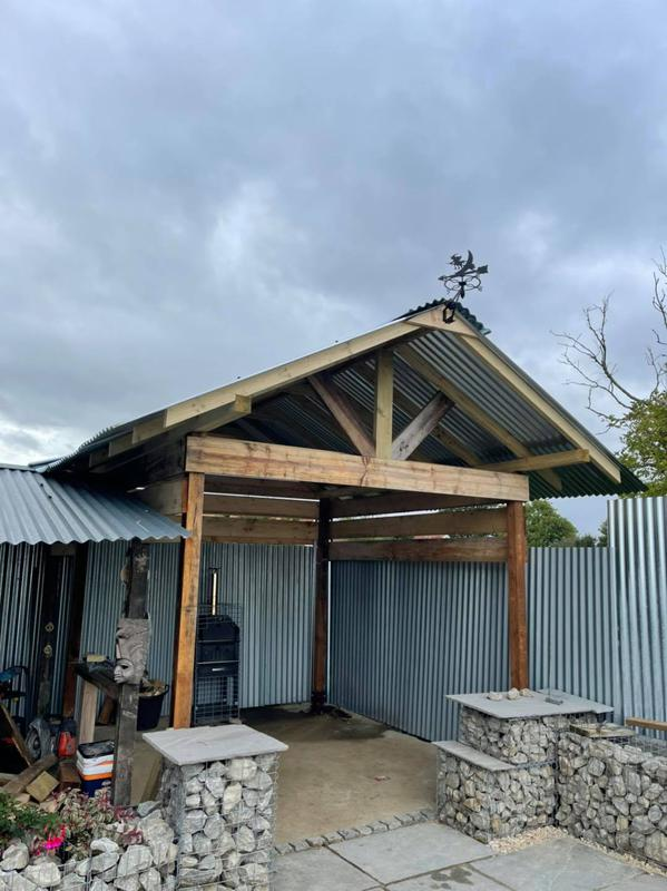 Image 19 - cut and pitch canopy roof