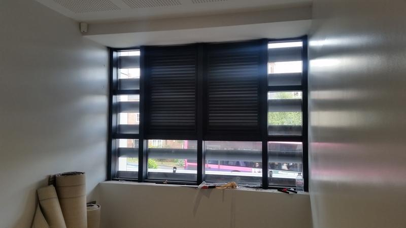 Image 23 - Curtain Walling tilt and turns taken out and louvres fitted.