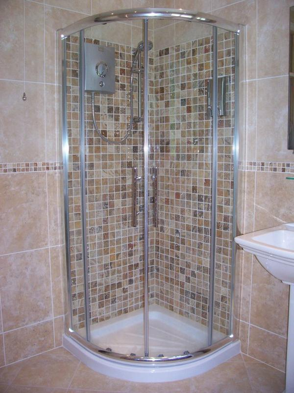 Image 26 - Mosaic shower and border.