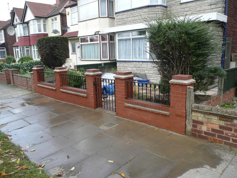 Image 23 - Greenford - wall - work completed