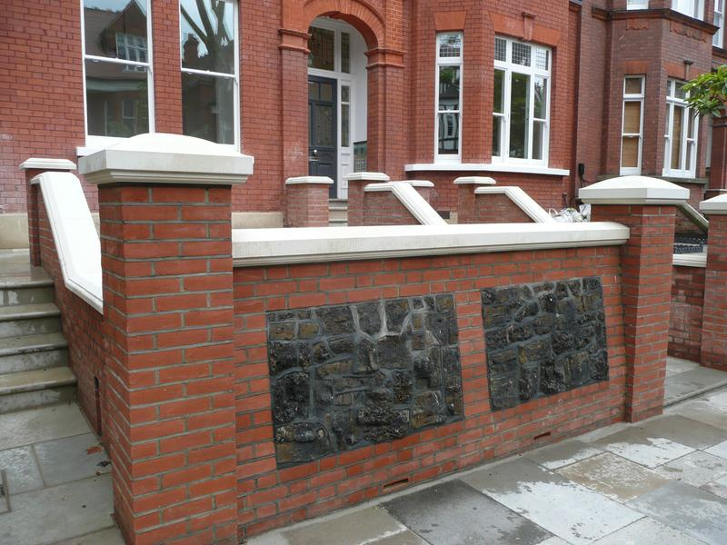 Image 17 - Hampstead - a completed length of wall