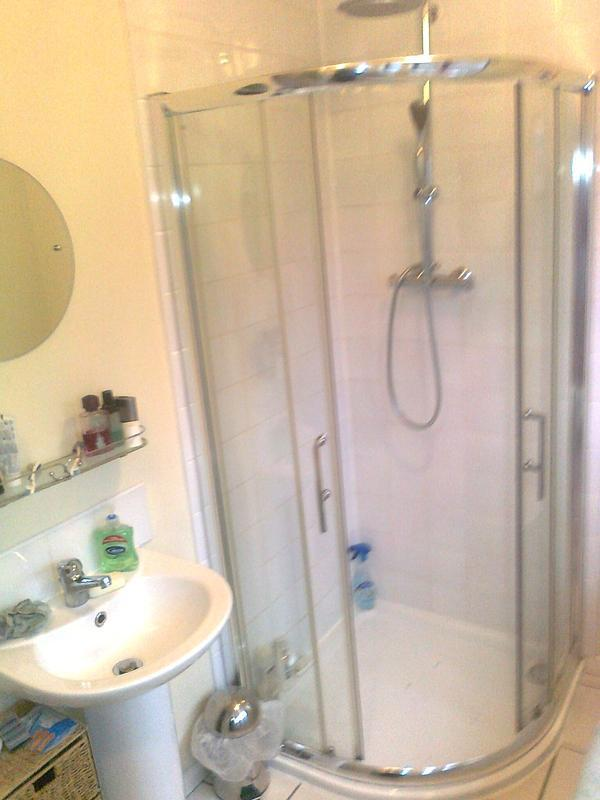 Image 12 - bathroom & shower refit at my sisters took deviding wall down to make one r
