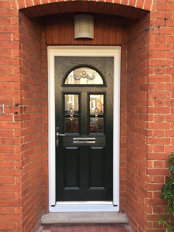 Image 21 - Dark green composite door