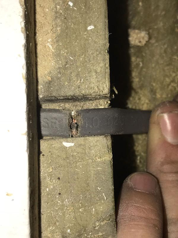 Image 11 - Cut cable found whilst fault finding.